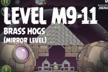 Angry Birds Space Brass Hogs Mirror Level M9-11 Walkthrough