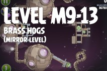 Angry Birds Space Brass Hogs Mirror Level M9-13 Walkthrough