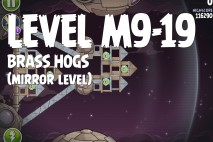 Angry Birds Space Brass Hogs Mirror Level M9-19 Walkthrough