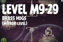 Angry Birds Space Brass Hogs Mirror Level M9-29 Walkthrough