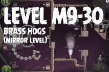 Angry Birds Space Brass Hogs Mirror Level M9-30 Walkthrough