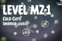 Angry Birds Space Cold Cuts Mirror Level M2-1 Walkthrough