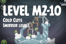 Angry Birds Space Cold Cuts Mirror Level M2-10 Walkthrough