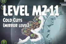 Angry Birds Space Cold Cuts Mirror Level M2-11 Walkthrough