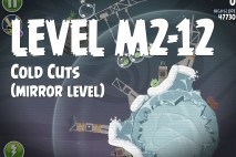 Angry Birds Space Cold Cuts Mirror Level M2-12 Walkthrough