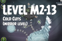 Angry Birds Space Cold Cuts Mirror Level M2-13 Walkthrough
