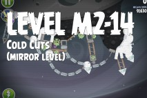Angry Birds Space Cold Cuts Mirror Level M2-14 Walkthrough