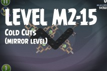 Angry Birds Space Cold Cuts Mirror Level M2-15 Walkthrough