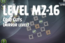 Angry Birds Space Cold Cuts Mirror Level M2-16 Walkthrough