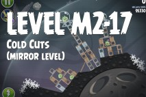 Angry Birds Space Cold Cuts Mirror Level M2-17 Walkthrough
