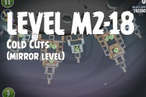 Angry Birds Space Cold Cuts Mirror Level M2-18 Walkthrough