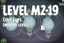 Angry Birds Space Cold Cuts Mirror Level M2-19 Walkthrough