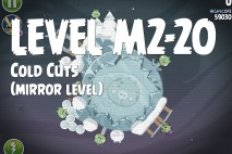 Angry Birds Space Cold Cuts Mirror Level M2-20 Walkthrough
