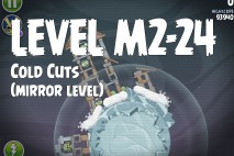 Angry Birds Space Cold Cuts Mirror Level M2-24 Walkthrough