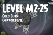 Angry Birds Space Cold Cuts Mirror Level M2-25 Walkthrough