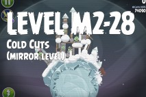 Angry Birds Space Cold Cuts Mirror Level M2-28 Walkthrough