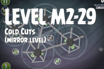 Angry Birds Space Cold Cuts Mirror Level M2-29 Walkthrough