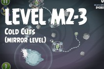 Angry Birds Space Cold Cuts Mirror Level M2-3 Walkthrough