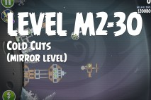 Angry Birds Space Cold Cuts Mirror Level M2-30 Walkthrough
