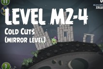 Angry Birds Space Cold Cuts Mirror Level M2-4 Walkthrough