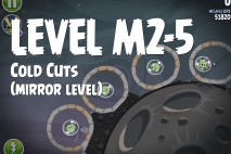 Angry Birds Space Cold Cuts Mirror Level M2-5 Walkthrough