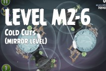 Angry Birds Space Cold Cuts Mirror Level M2-6 Walkthrough