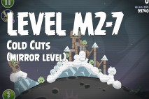 Angry Birds Space Cold Cuts Mirror Level M2-7 Walkthrough