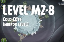 Angry Birds Space Cold Cuts Mirror Level M2-8 Walkthrough