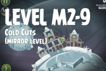 Angry Birds Space Cold Cuts Mirror Level M2-9 Walkthrough