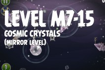 Angry Birds Space Cosmic Crystals Mirror Level M7-15 Walkthrough
