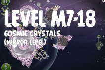 Angry Birds Space Cosmic Crystals Mirror Level M7-18 Walkthrough