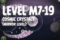 Angry Birds Space Cosmic Crystals Mirror Level M7-19 Walkthrough