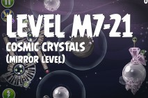 Angry Birds Space Cosmic Crystals Mirror Level M7-21 Walkthrough