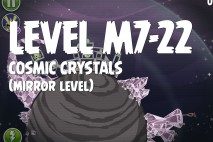 Angry Birds Space Cosmic Crystals Mirror Level M7-22 Walkthrough