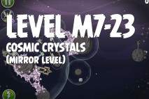 Angry Birds Space Cosmic Crystals Mirror Level M7-23 Walkthrough