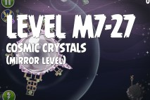 Angry Birds Space Cosmic Crystals Mirror Level M7-27 Walkthrough