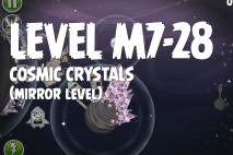 Angry Birds Space Cosmic Crystals Mirror Level M7-28 Walkthrough