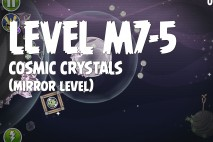 Angry Birds Space Cosmic Crystals Mirror Level M7-5 Walkthrough