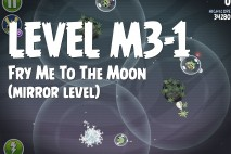 Angry Birds Space Fry Me to the Moon Mirror Level M3-1 Walkthrough