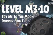 Angry Birds Space Fry Me to the Moon Mirror Level M3-10 Walkthrough