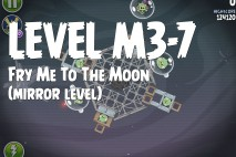 Angry Birds Space Fry Me to the Moon Mirror Level M3-7 Walkthrough