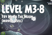 Angry Birds Space Fry Me to the Moon Mirror Level M3-8 Walkthrough