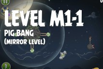 Angry Birds Space Pig Bang Mirror Level M1-1 Walkthrough