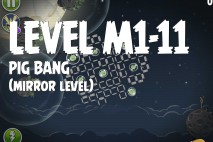 Angry Birds Space Pig Bang Mirror Level M1-11 Walkthrough