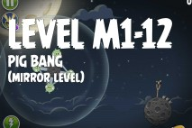Angry Birds Space Pig Bang Mirror Level M1-12 Walkthrough