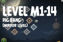 Angry Birds Space Pig Bang Mirror Level M1-14 Walkthrough