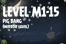 Angry Birds Space Pig Bang Mirror Level M1-15 Walkthrough