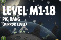 Angry Birds Space Pig Bang Mirror Level M1-18 Walkthrough