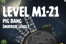 Angry Birds Space Pig Bang Mirror Level M1-21 Walkthrough
