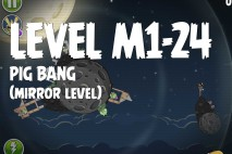 Angry Birds Space Pig Bang Mirror Level M1-24 Walkthrough